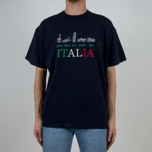 Other - Vintage Italian Embroidered T-Shirt 🇮🇹